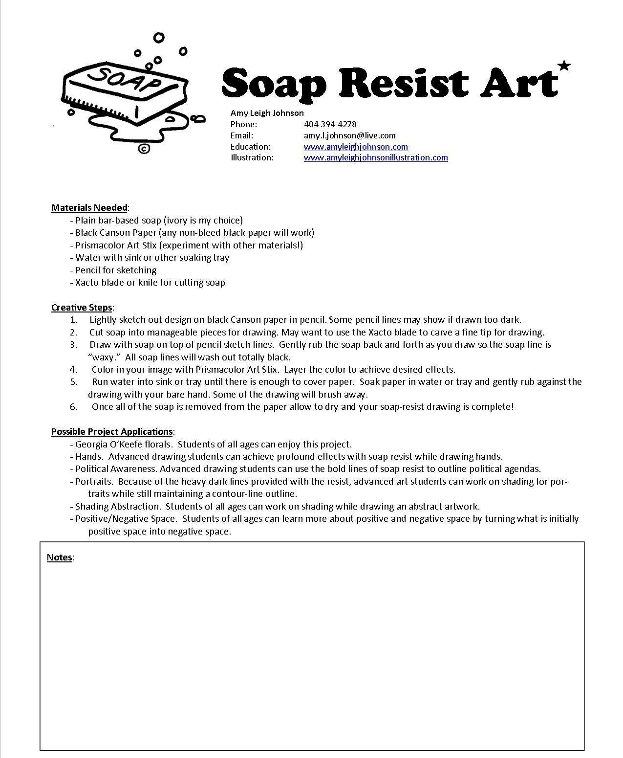 The Smartteacher Resource Soap Resist Flowers Using Soap