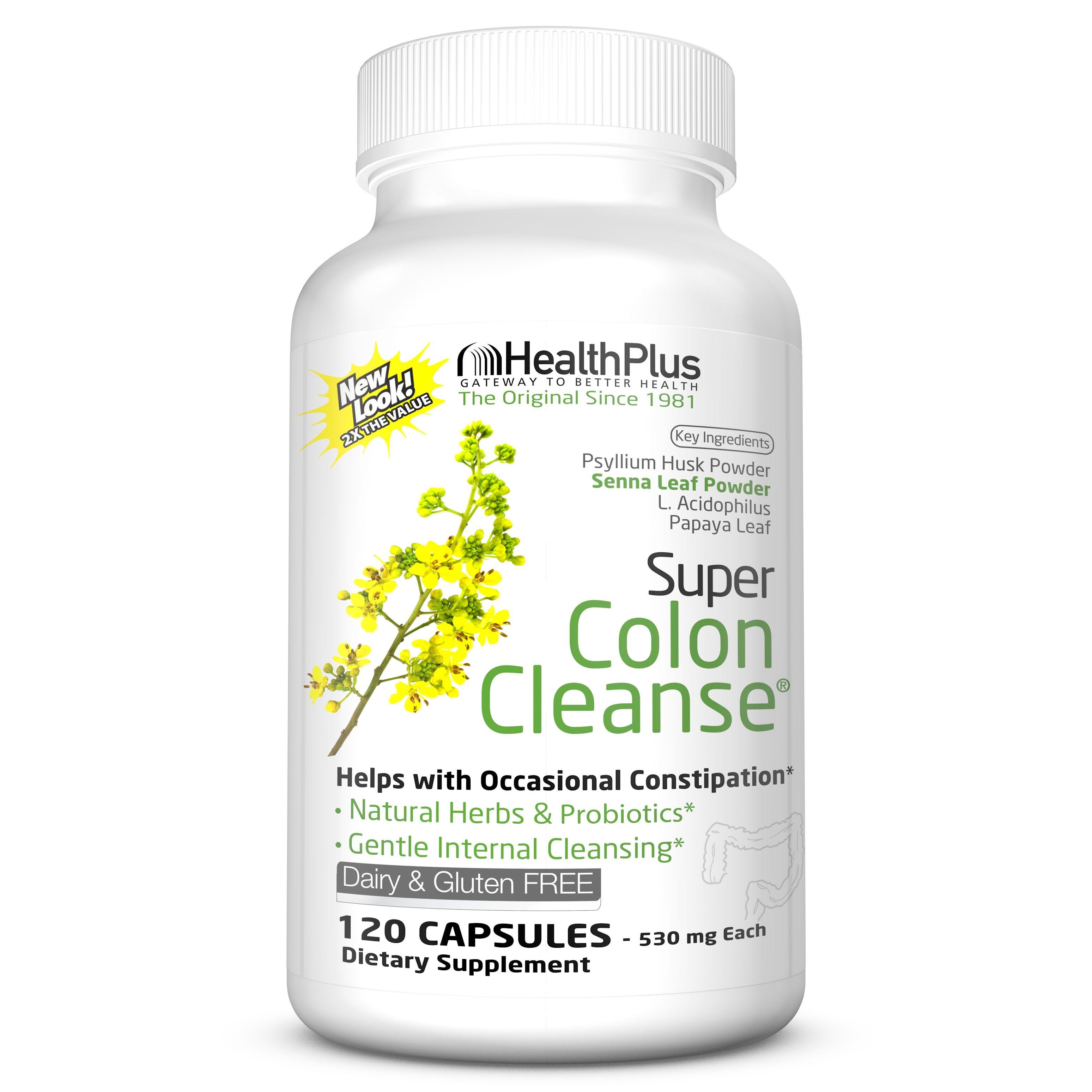 Health Plus Super Colon Cleanse 120 Capsules 60 Servings Walmart Com Colon Cleanse Detox Colon Cleanse Pills Detox Cleanse