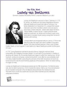 Ludwig van Beethoven Printable