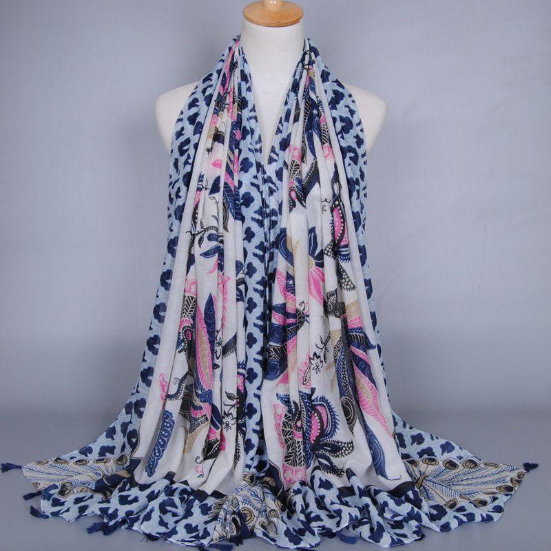 Female printe animal peacock floral fashoin shawls kerchief muffler viscose muslim wrap summer serves/scarf 10pcs/lot