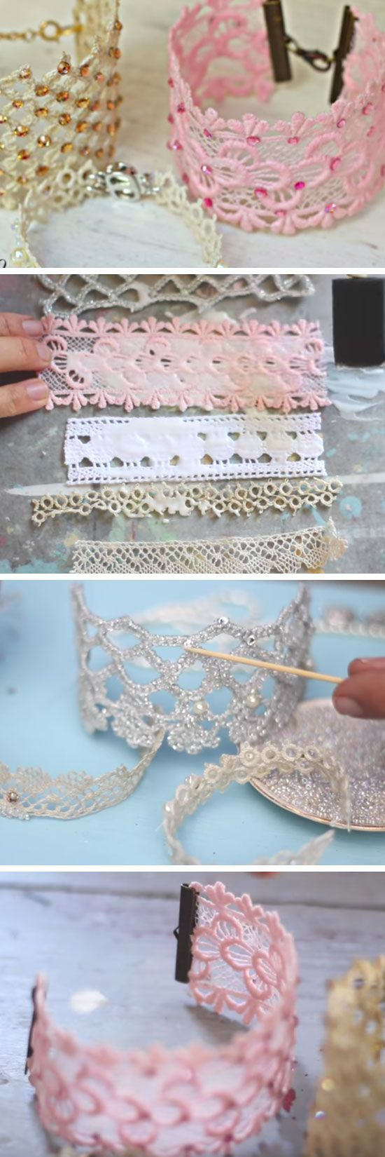 DIY Lace Jewelry | DIY Christmas Gifts for Mom | Easy Holiday Gift Ideas for Grandma #DIYChristmas