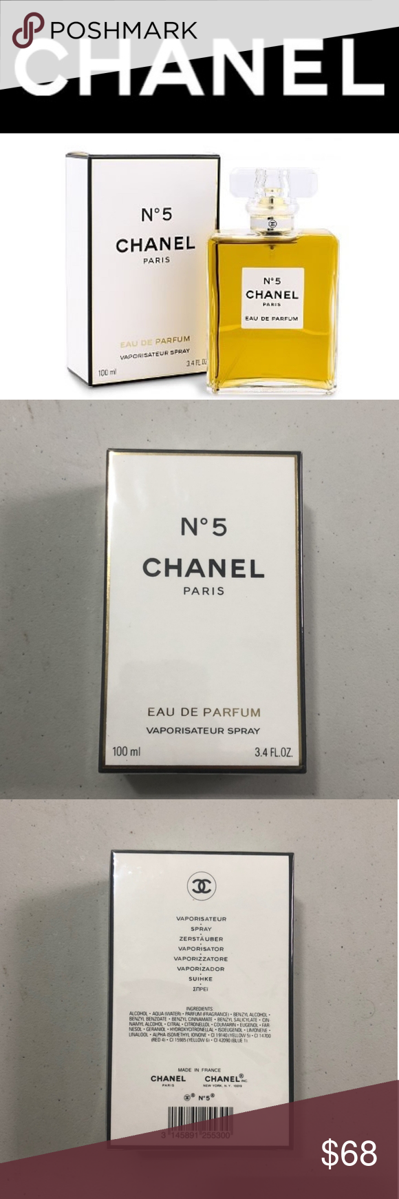 Chanel no5 1x no5 3.4oz  Brand new, sealed  100% authentic  Great gift  1-3 day shipping Sephora Makeup #myposhpicks