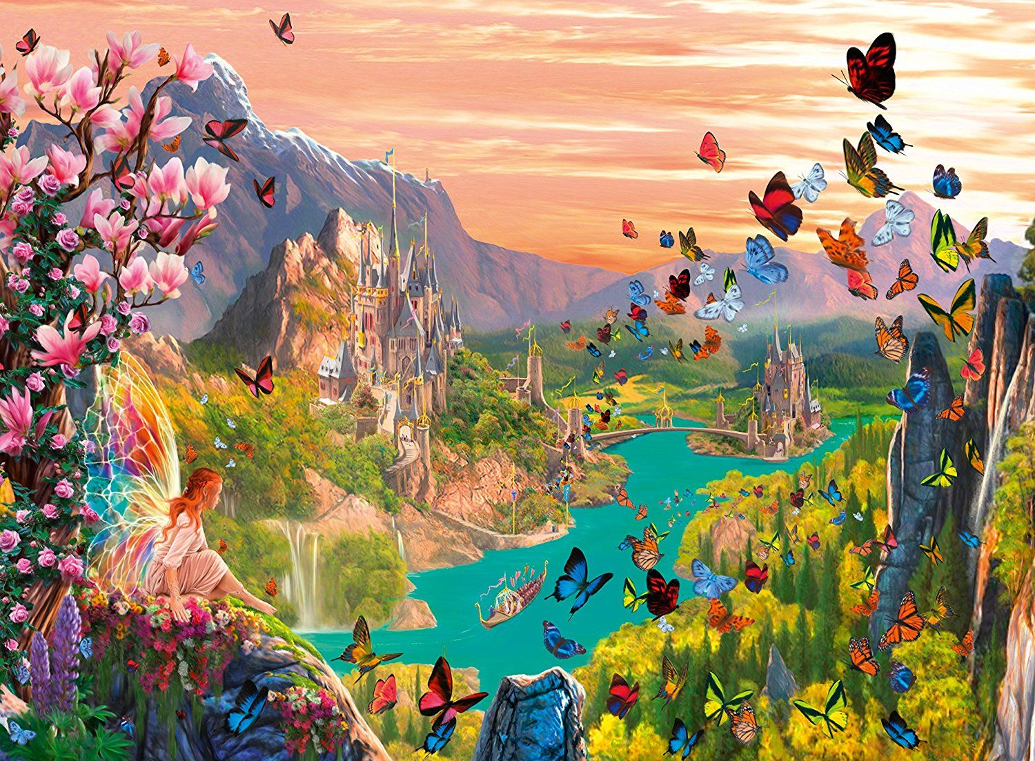 Amazon Com Ravensburger Fairy Valley Puzzle 300 Piece Toys