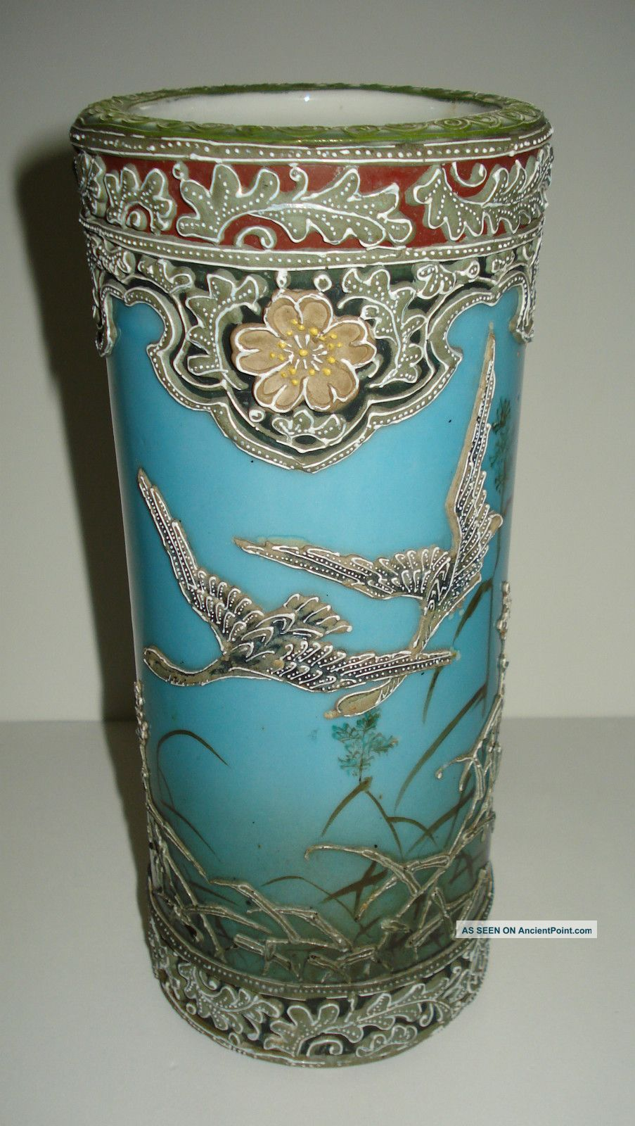 Japanese nippon vases antique nippon hand painted japanese japanese nippon vases antique nippon hand painted japanese moriage vase flying cranes reviewsmspy