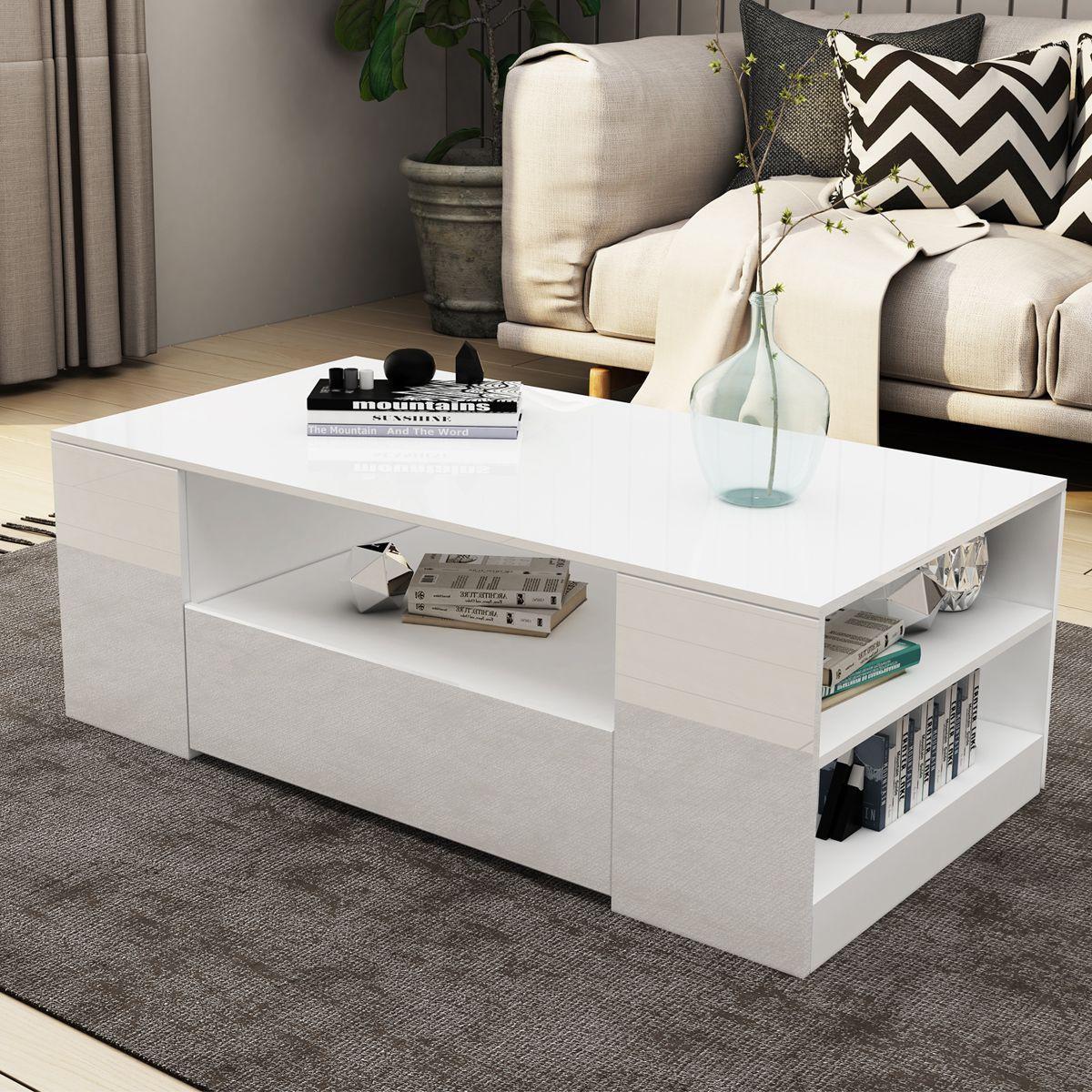 21++ White coffee table with storage australia ideas