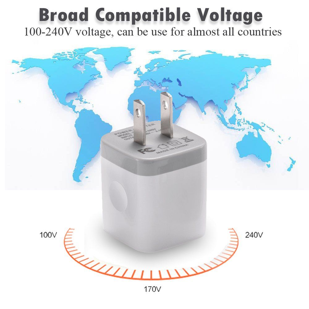 usb wall charger best4one 3pack 2 1a 5v dual port usb plug on usb wall charger id=43200