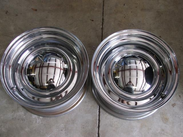 For Sale 14 X 7 Brand New Chrome Reverse With Baby Moons Tires And Wheels For Sale Mopar Hubcaps Too Mopar New Chrome Wheels And Tires Wheels For Sale
