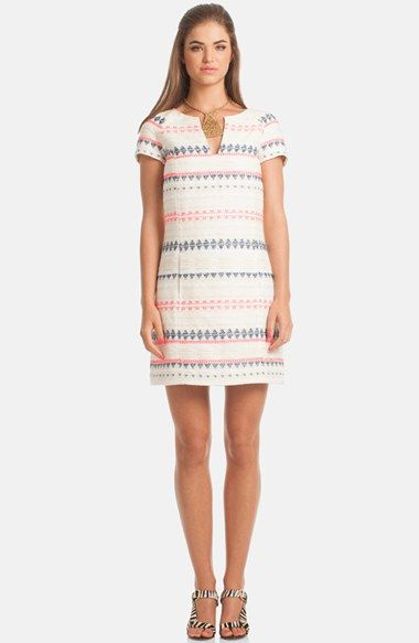 70230c44458 Trina+Turk+Jacquard+Notch+Neck+Shift+Dress+available+at+ Nordstrom ...