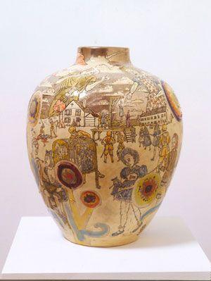 Grayson Perry Interior Conflict 2004 Glazed Ceramic Grayson Perry Contemporary Artists Ceramics