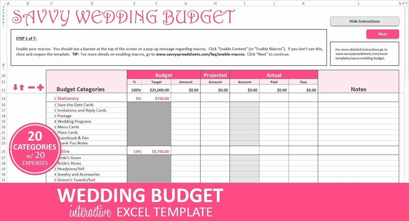 Wedding Budget Planner Template New Wedding Bud Planner Excel Wedding Bud Templa Bud Budget Budget Planner Budget Planner Template Wedding Budget Planner