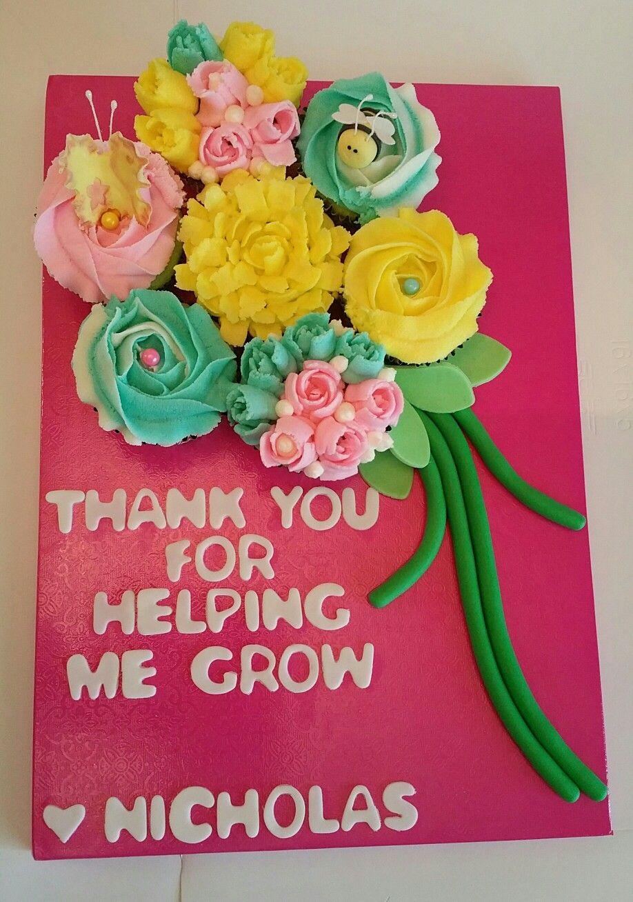 Teacher appreciation gift of flower cupcake bouquet for my sons teacher appreciation gift of flower cupcake bouquet for my sons teacher izmirmasajfo