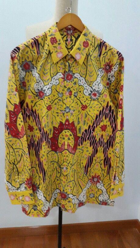 Men shirt made from Batik tulis Cirebon. Shirt is made by Dongengan (Facebook: https://m.facebook.com/dongengan)