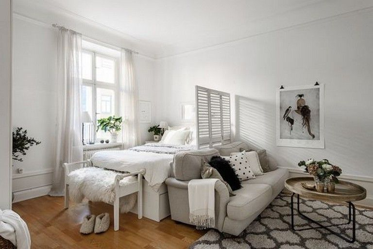 10 Admirable Ideas Of Minimalist And Simple One Room Apartment Apartment Apartmentd Apartment Room Studio Apartment Living Small Studio Apartment Decorating