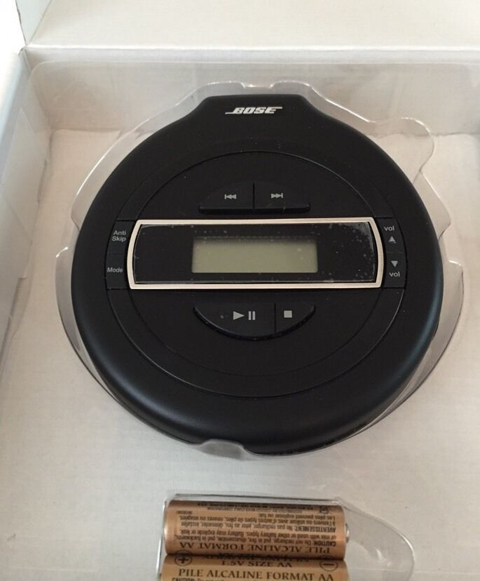 New BOSE Black Portable Single Compact Disc Player Model PM-1 #Bose