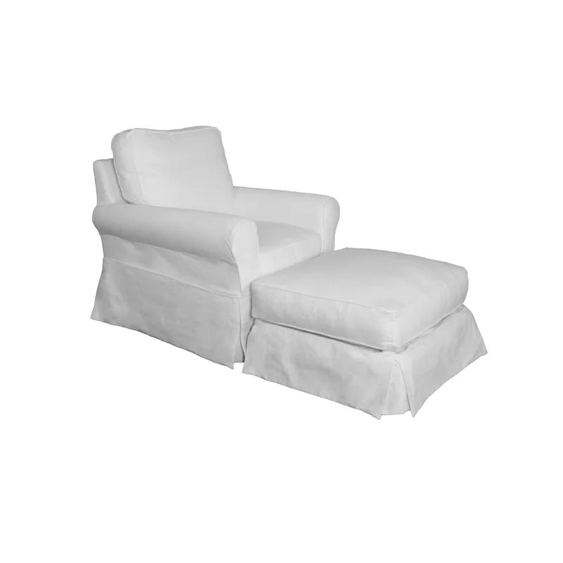 Box Cushion Slipcover Slipcovers For Chairs Ottoman Slipcover Slipcovers
