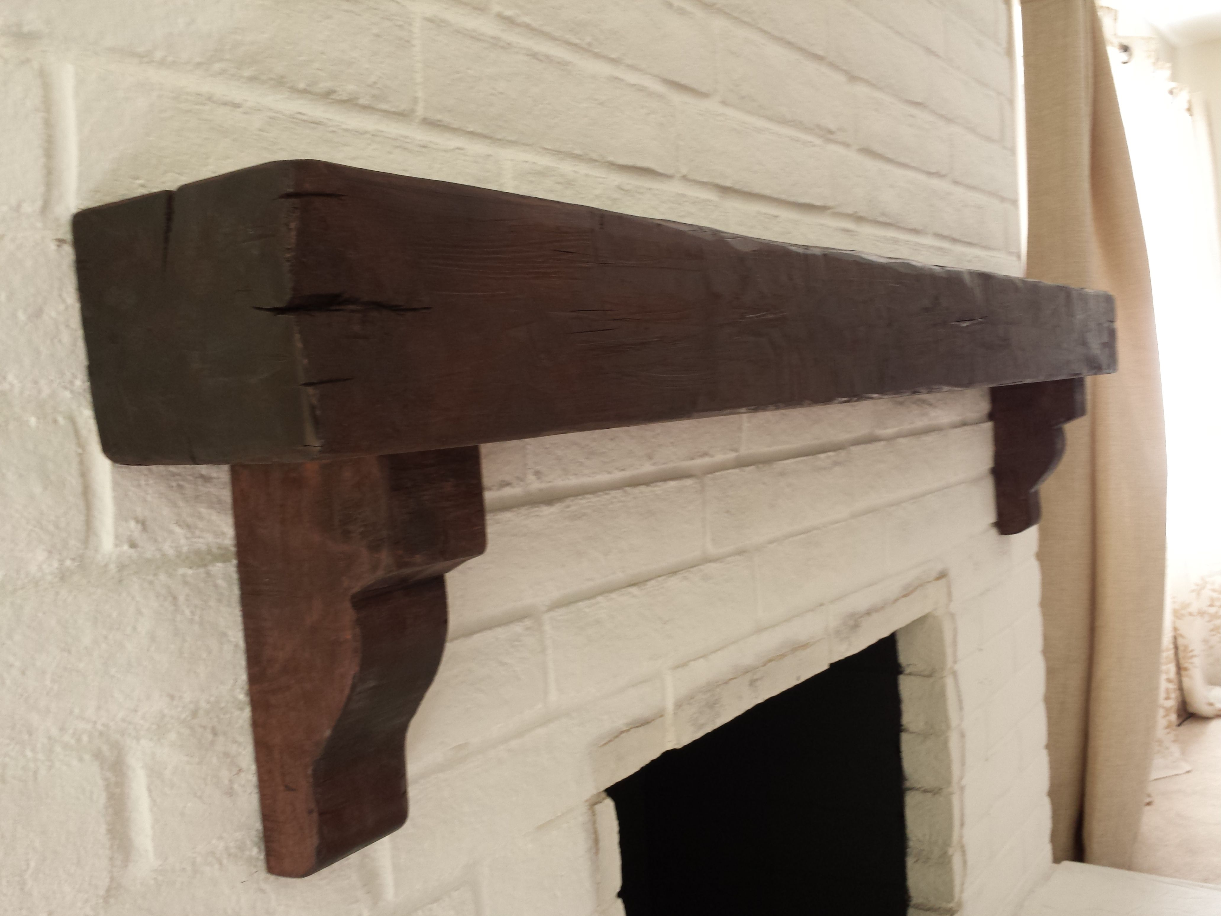Sensational Custom Made Distressed Beam Mantel With Corbels Call For Download Free Architecture Designs Grimeyleaguecom