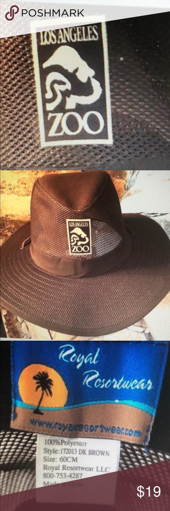 Brown Hat Los Angeles Zoo Size 60 Cm Sun Park Brown Hats Resort Wear Los Angeles Zoo