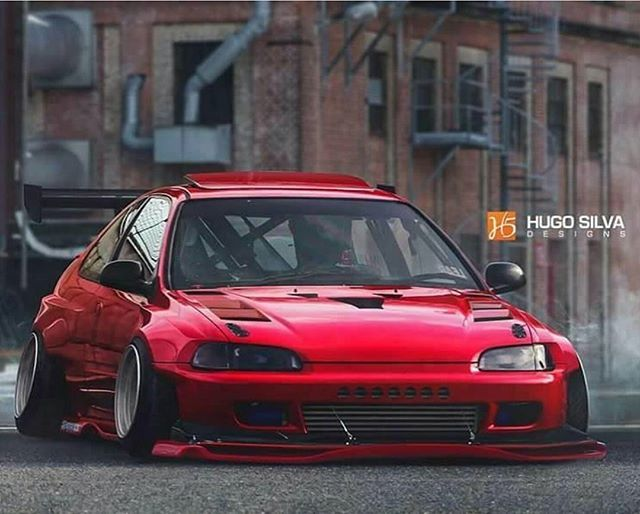 Pimped Out Honda Civic Si This ej looks cute and...