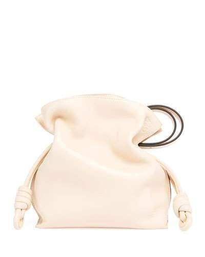 LOEWE FLAMENCO KNOT LEATHER BUCKET BAG. #loewe #bags #shoulder bags #leather #bucket #
