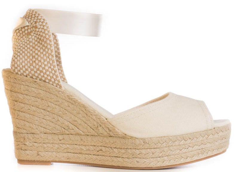 BEVERLY Ivory Peep-Toe Platform Wedges