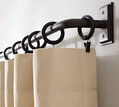 Pb Essential Room Darkening Curtain Rod Amp Wall Bracket Cast
