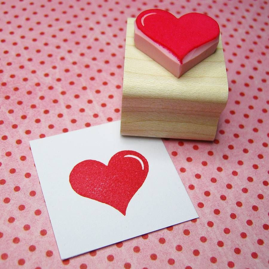 Classic heart rubber stamp | Ink pads, Youngest child and Hand carved