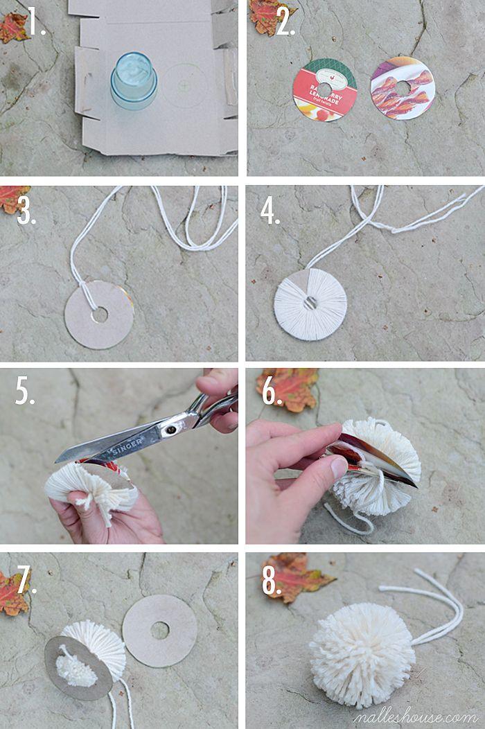 how to make little pom poms
