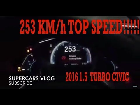 Honda Civic 2016 1 5 Turbo Pakistan Top Speed Video Honda Civic2016 Pakistan Youtube Super Cars Vehicle Gauge