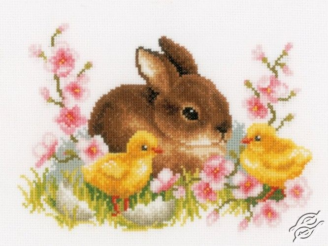 Rabbit With Chicks - Cross Stitch Kits by Vervaco - PN-0145421 ...