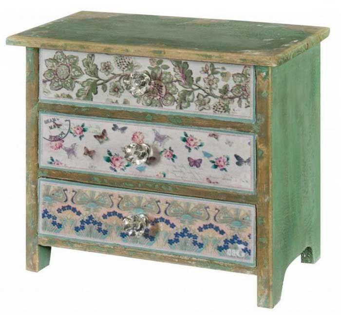 Kommode Shabby Chic Vintage Hat Viele Nützlichkeit In Jedem Zimmer Mit 3  Schublade Und Runde Knöpf Mini Kommoden Schmetterling Für Schlafzimmer  Kommode Holz