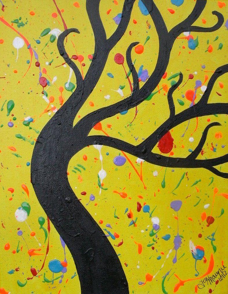 Splatter Tree   DIY   Pinterest