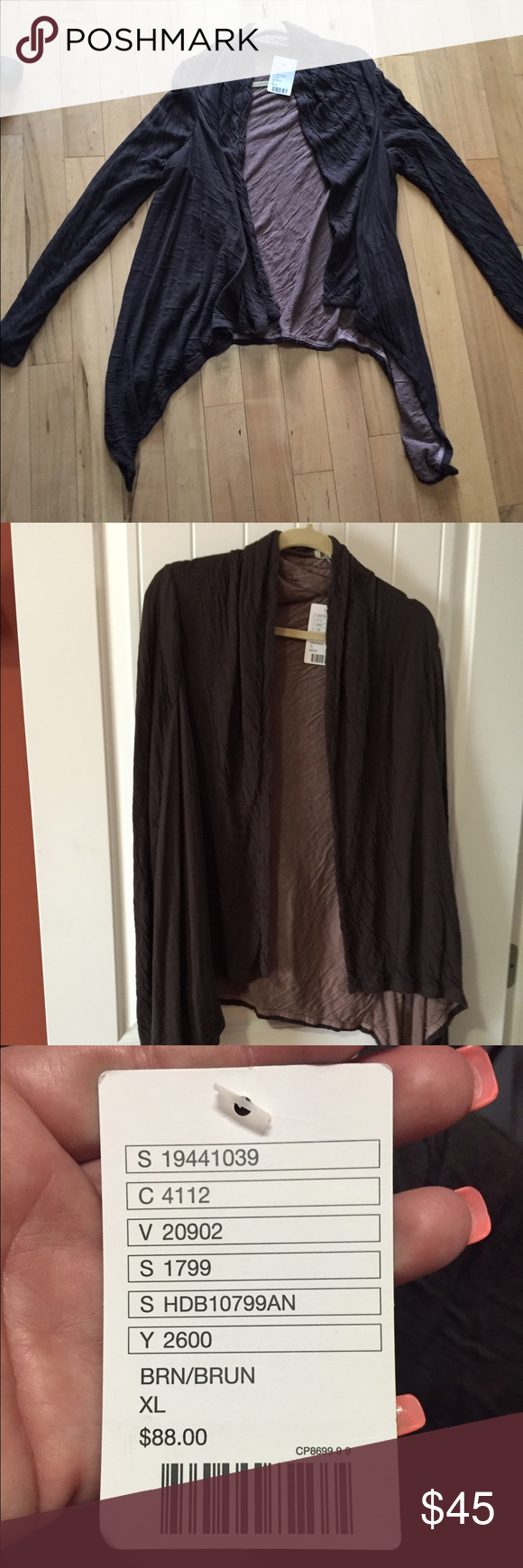 Anthropologie brown cardigan NEW WITH TAGS NWT | Anthropologie ...