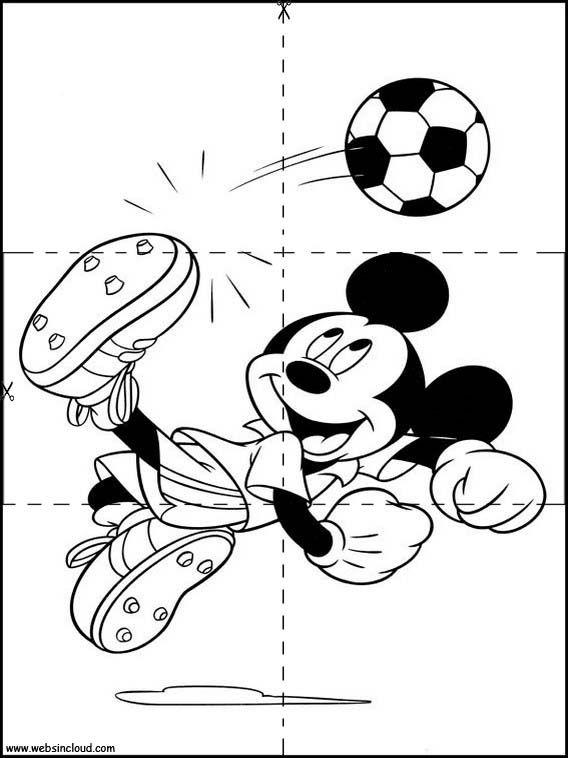 Puzzles Rompecabezas Para Imprimir Para Niños Mickey Mouse 23