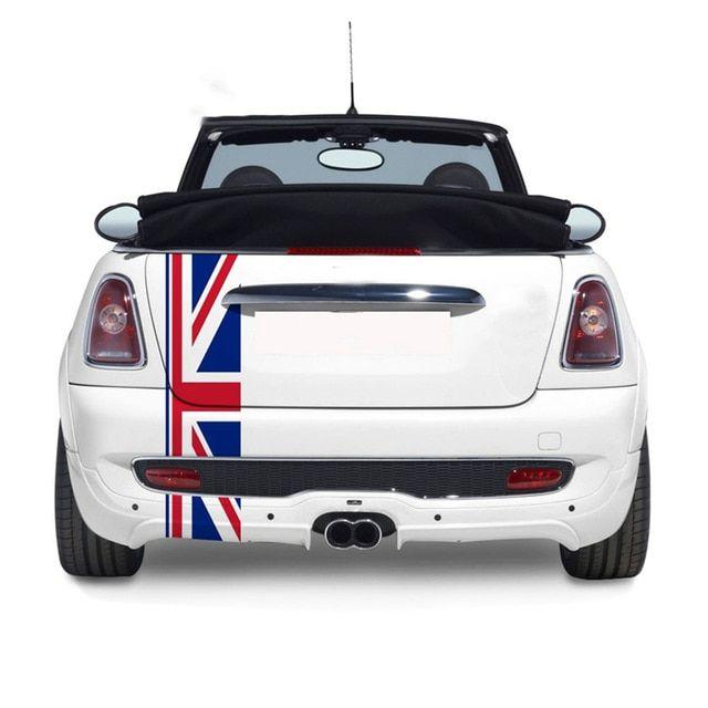 Union Jack Car Rear Trunk Decor Decal Stickers For Mini