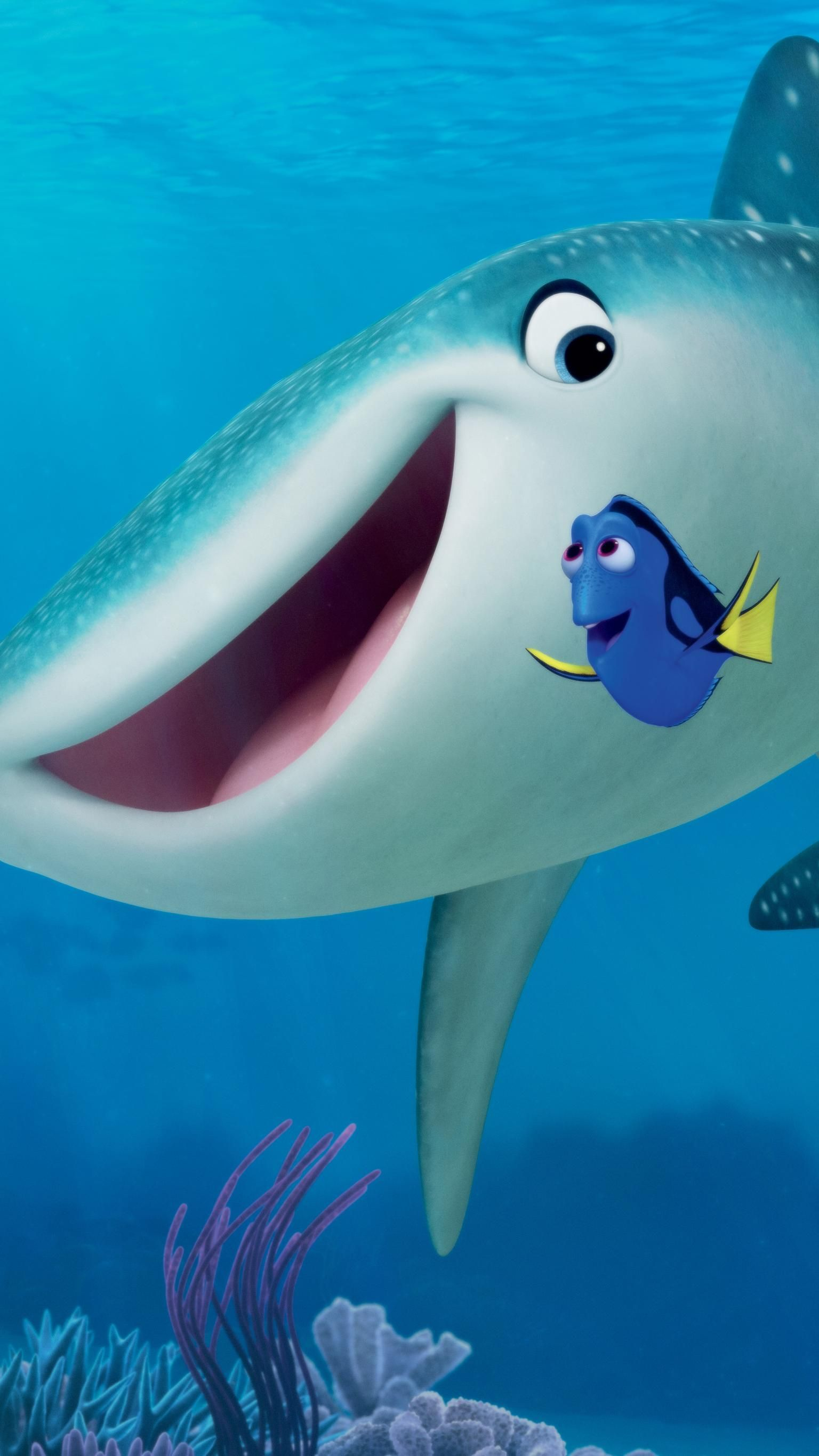Finding Dory 2016 Phone Wallpaper Moviemania In 2020 Wallpaper Phone Wallpaper Swimming Pictures