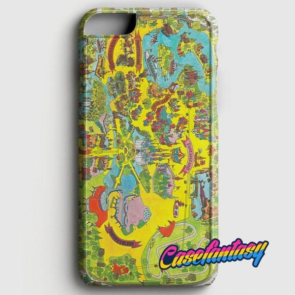 Vintage Walt Disney World Map Fantasyland 1971 IPhone 8 Case | Casefantasy