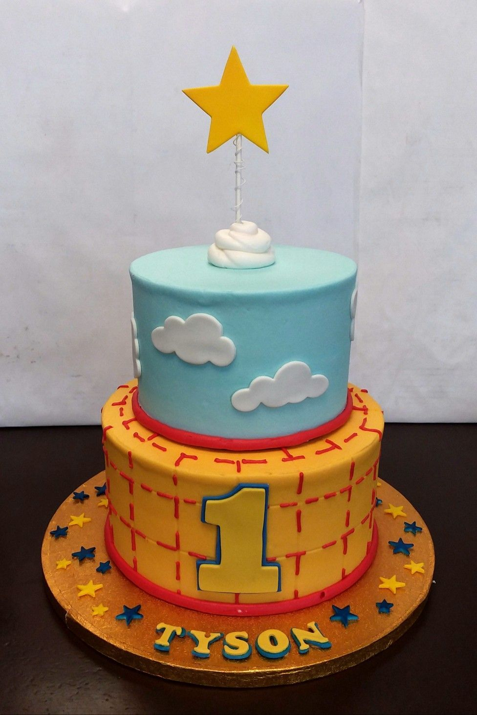 Buttercream Toy Story Cake With Images Toy Story Birthday Cake