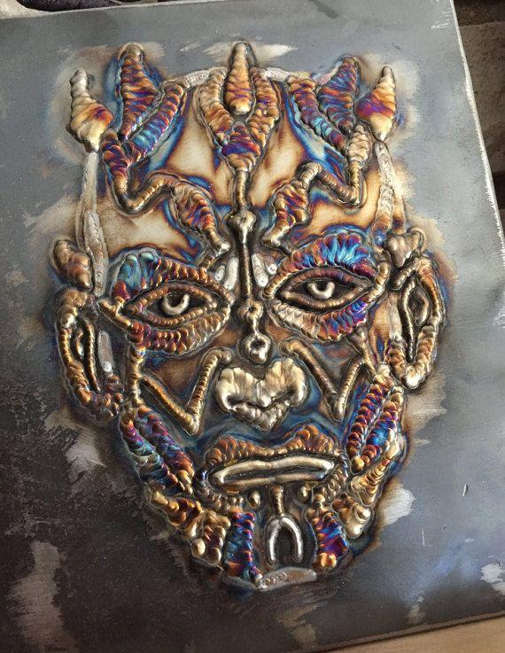 Original Star Wars Tig Art Darth Maul Welding Art