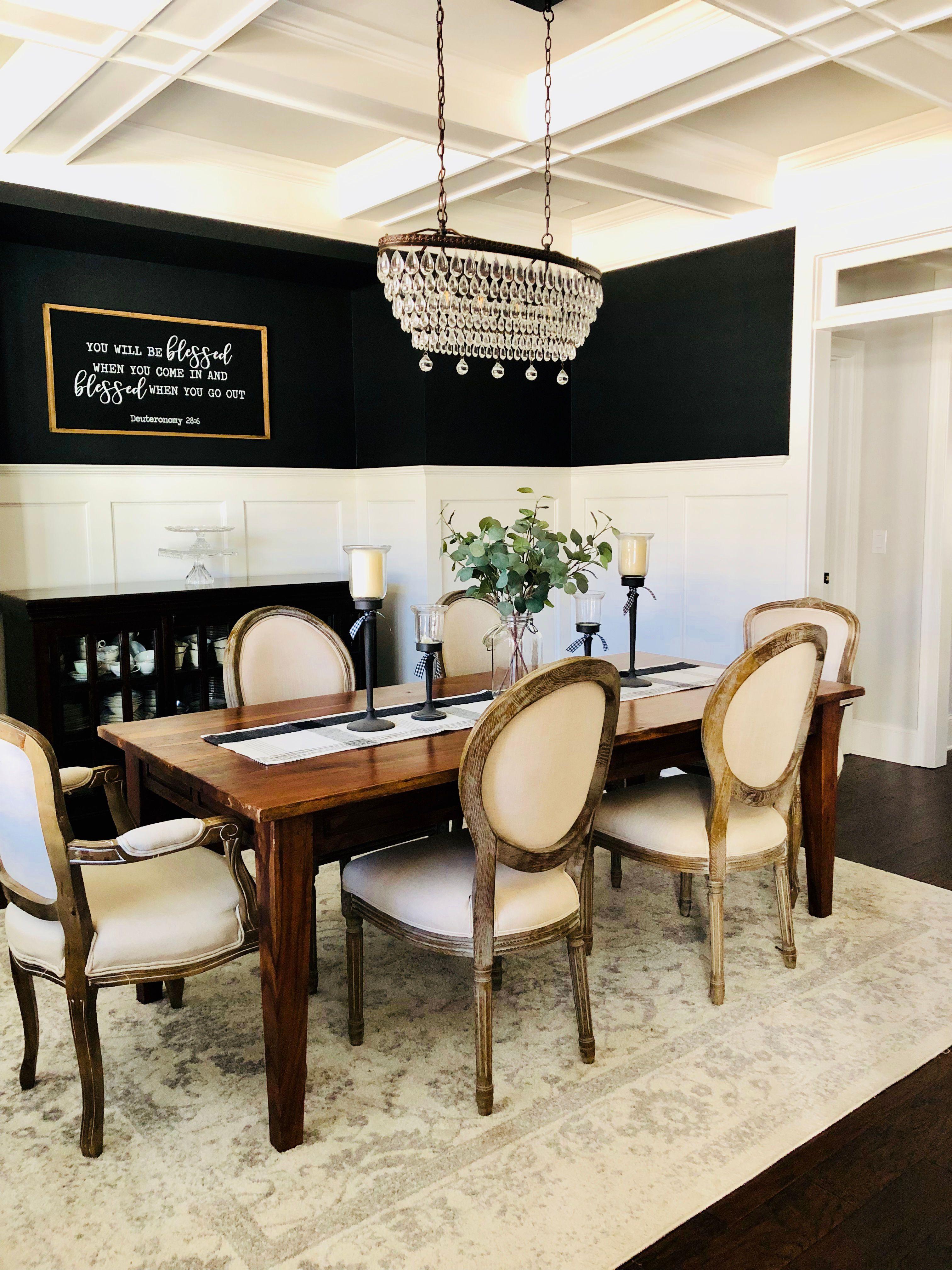 Tricorn Black Dining Room Black Dining Room Black Accent Walls