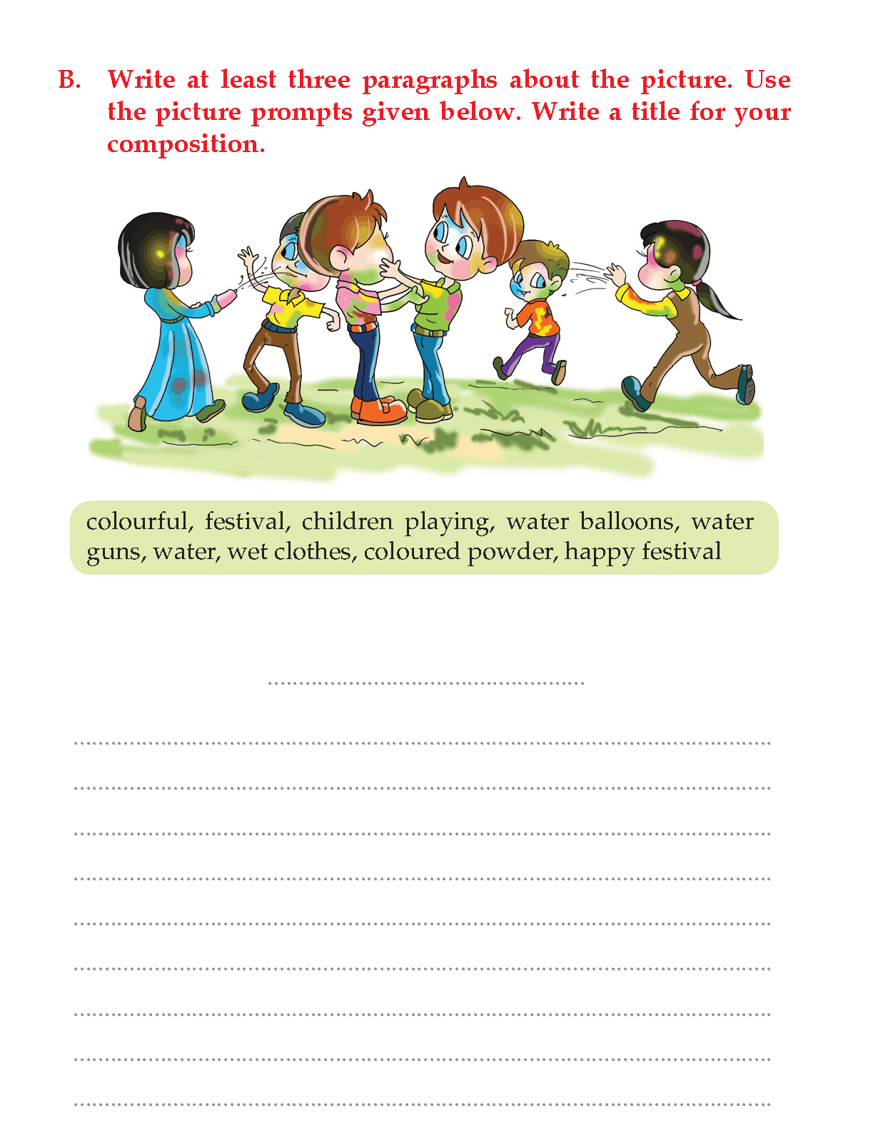 Writing skill -grade 3 - picture composition (8) | Picture ...