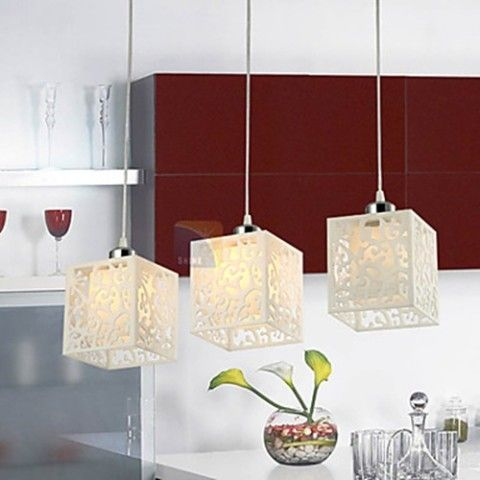 Modern Chic Pendant with Acrylic Shade - 3 Light – LightSuperDeal.com