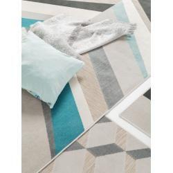 benuta Plus In- & Outdoor-Teppich Rasco Grau/Türkis 200×290 cm – für Balkon, Terrasse & Garten