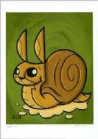 Joe Ledbetter Snail Bunny Print