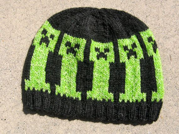 b6e616231a547 wool hat Minecraft Creepers by debthorpe on Etsy