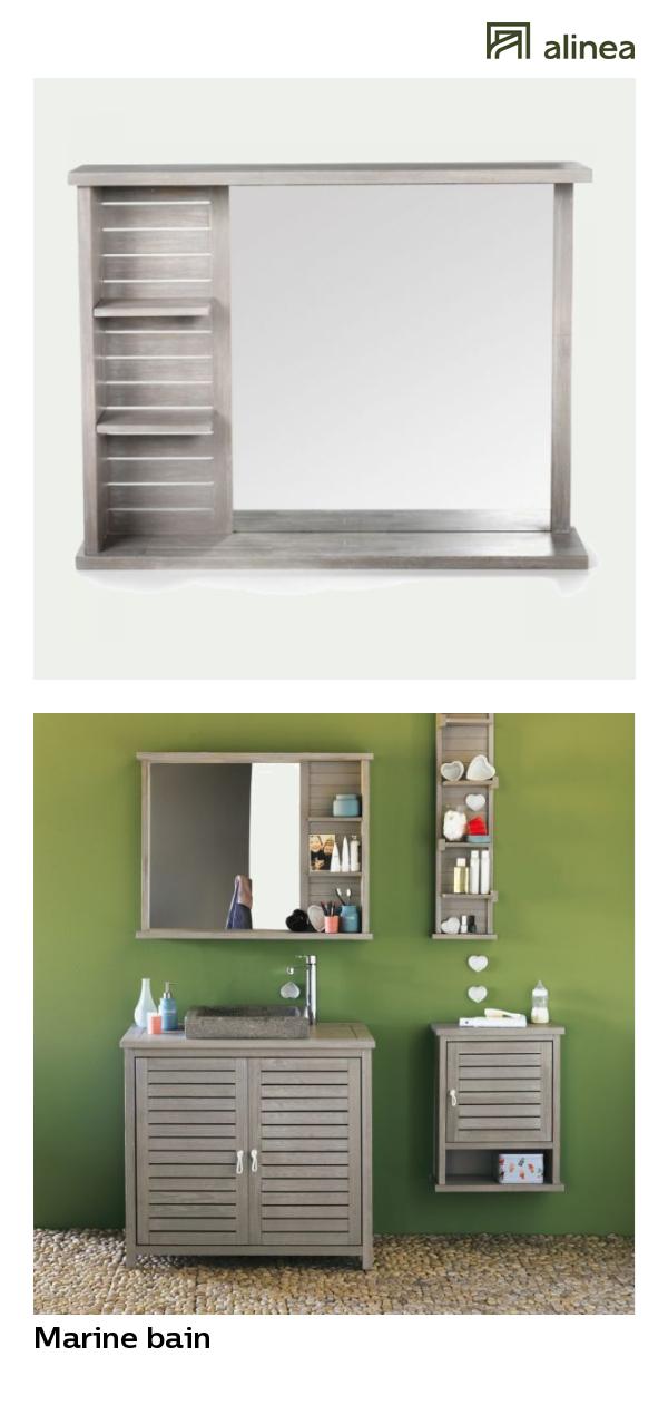 alinea : marine bain miroir rectangulaire de salle de bains avec ...