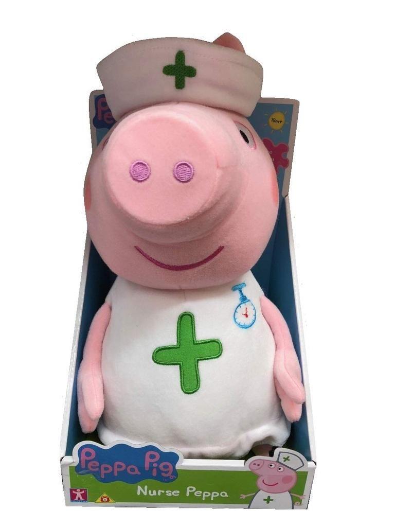 Peppa Pig Nurse Peppa Large Soft Plush Toy 29cm Peppa Pig Toys Soft Plush Peppa Pig Plush [ 1024 x 768 Pixel ]