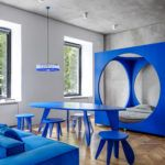Harry Nuriev's Bookable Moscow Apartment Turns Brutalism Blue @SurfaceMag