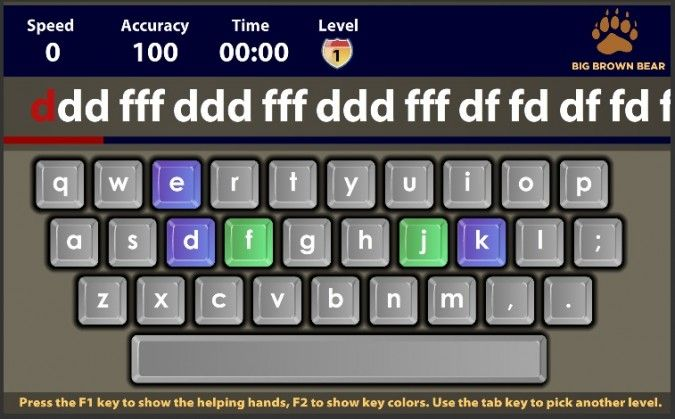 teaching typing