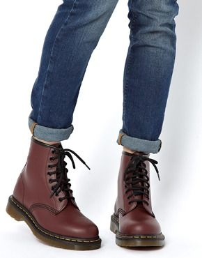 Dr Martens Modern Classics Cherry Red Smooth 1460 8 Eye Boots