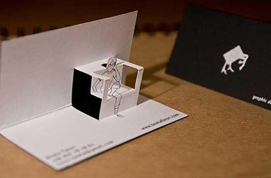 Business Card Design Figure Pop Up Design Business Cards